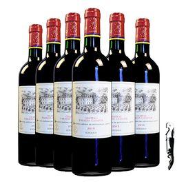 拉菲 人人酒 拉菲凯萨天堂古堡波尔多法定产区红葡萄酒整箱6支装750ml*6