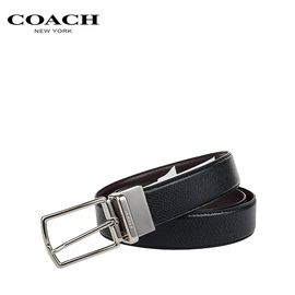 COACH /蔻驰 男士腰带 F64824 美国进口 双面针扣 洲际速买