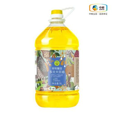 初萃 非转基因东北大豆油 5L 食用油 90天新油 新鲜无添加 无豆腥味 物理压榨 当季新产原料(中粮出品)