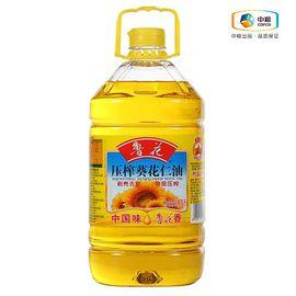 鲁花 压榨葵花仁油 食用油 物理压榨 无添加防腐剂 抗氧化剂 5L
