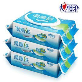 心相印 @抽取式湿厕纸3组240片卫生洁净纸巾
