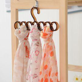 SP SAUCE 日本领带架 丝巾架 多功能塑料衣架 领带收纳架