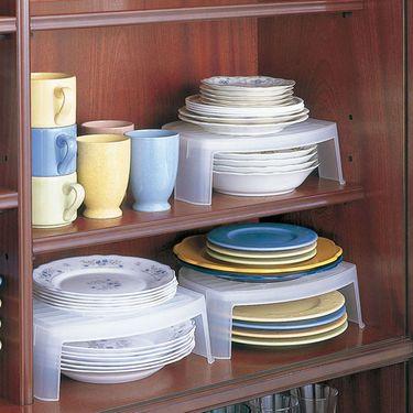 SANADA 日本进口碗架 碗碟收纳架 餐盘整理架小碗收纳筒 单个价