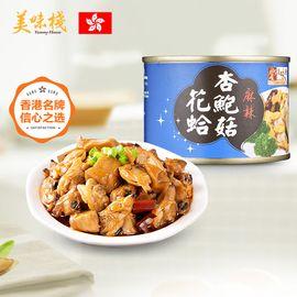 美味栈 麻辣杏鲍菇花蛤 150g 香港地区进口 即食海鲜罐头食品