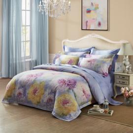 罗莱 家纺专柜 纯棉四件套全棉床上用品床品套件床单被罩花舞荡漾