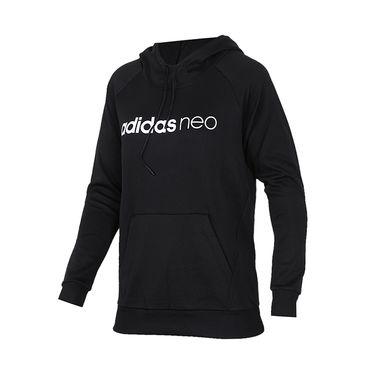 阿迪达斯 Adidas女装2018春季新款运动服休闲连帽卫衣套头衫CZ1682