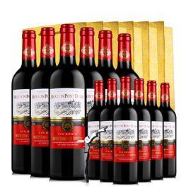 梦诺 醉梦红酒 【买6支送6支】法国原瓶进口 唐卢卡干红葡萄酒750ml*6支