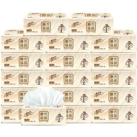 清风 130抽3层原木抽纸12包原生木浆