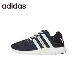 阿迪达斯 adidas/阿迪达斯  织物面低帮休闲 黑色白三杠 S82118 缓冲避震 洲际速买