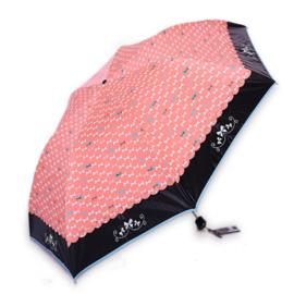 天堂伞 33161E蝴蝶歌谣镜面黑胶防紫外线轻巧晴雨两用伞(多色随机配送)