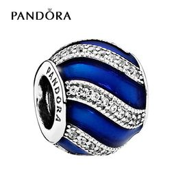 PANDORA 潘多拉 瓷釉蓝色配饰蓝色串珠791991EN118