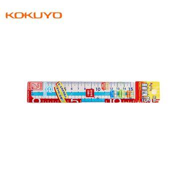 KOKUYO 国誉/KOKUYO 进口学生用透明直尺15cmGY-GBA110B 透明蓝