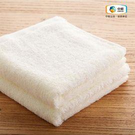 中粮 简沃-素色纯棉加厚方巾两条装黄色 柔软呵护 安心之选