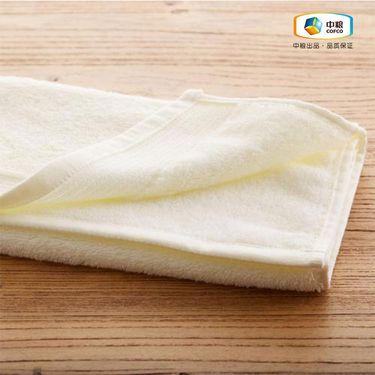 中粮 简沃-素色纯棉加厚毛巾黄色