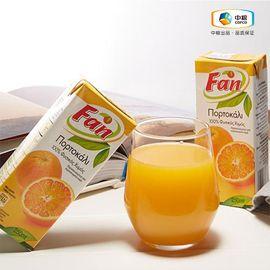中粮 【中粮海外直采】新鲜、果味纯正、不使用防腐剂、无菌、含丰 富的维生素 Fan纯果芬橙汁250ml 塞浦路斯进口
