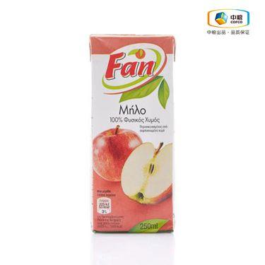 中粮 【中粮海外直采】新鲜、果味纯正、不适用防腐剂、无菌、含丰 富的维生素 Fan纯果芬苹果汁250ml 塞浦路斯进口