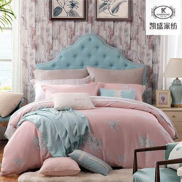凯盛家纺 60支水洗棉四件套 慕卉 活性印花 床上用品 床品 适合1.5/ 1.8m床