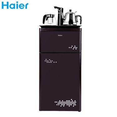 海尔  YR1683-CB 温热款 不带冰水功能 家用多功能触 屏智能茶吧机下置饮水机立式双层 咖色