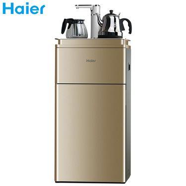 海尔 YR1683-CB   温热款不带冰水功能  家用多功能触 屏智能茶吧机下置饮水机立式双层  金色