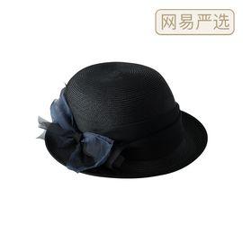 网易严选 短檐蝴蝶结编织帽