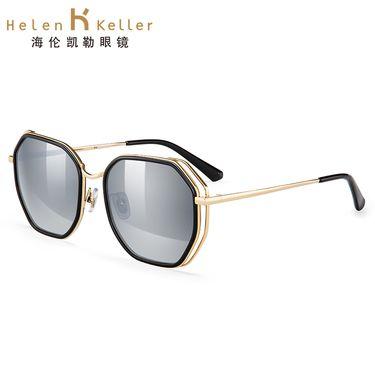 海伦凯勒 太阳镜 几何时尚潮墨镜女 高清偏光眼镜H8702