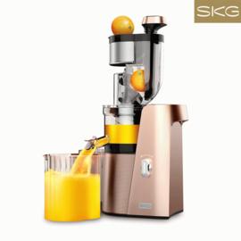 SKG 榨汁机大口径慢速原汁机家用全自动多功能豆浆机大口径果汁机 A10 香槟金
