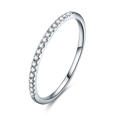 千禧之星 隽美18k金钻石戒指女款玫瑰金排镶戒指求婚结婚钻戒指环 SY01973