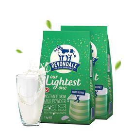 Devondale/德运 脱脂单链接高钙青少年成人牛奶粉 1000g*2包 澳洲进口  高钙奶粉 小爷猪海外专营店