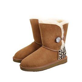 Bluestar UGG 澳洲羊毛靴中筒钻扣动物纹C11A澳洲进口 IVY