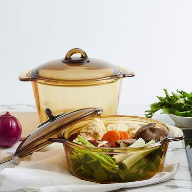 丽芙 微晶玻璃多用锅(法国进口)  玻璃直烧锅微晶锅汤锅炖锅煲汤锅透明锅玻璃锅