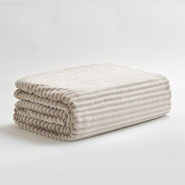 三利 法兰绒加厚毛毯单人宿舍学生珊瑚绒毯子单双人午睡毯盖毯