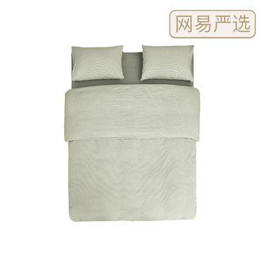 网易严选 日式色织水洗棉条纹四件套