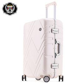 君华仕GENVAS 拉杆箱纯PC铝框箱万向轮行李箱男女士20英寸登机箱旅行箱G-1201