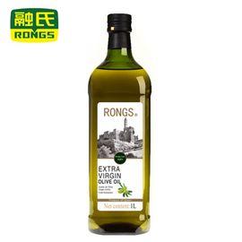 融氏 RONGS 西班牙进口特级初榨橄榄油白金标  1L/瓶【酸度0.4 自有庄园 新鲜生产】