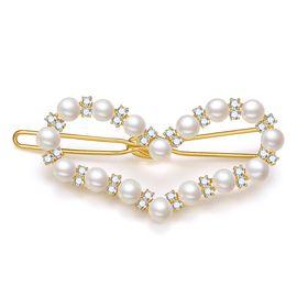 仙蒂瑞拉 心愿  5.5-6mm时尚淡水珍珠发夹气质迷人 附证书