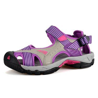 悍途/HUMTTO 夏季户外女款沙滩鞋 海边度假涉水溯溪鞋徒步登山包头运动凉鞋 9602