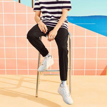 A21 男装束脚九分裤男 2018新品时尚潮流低腰修身弹力青年男休闲裤4821041020