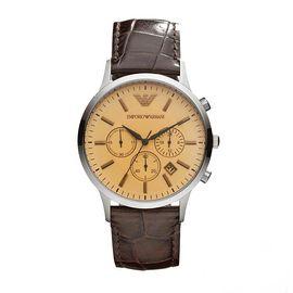 EMPORIO ARMANI 阿玛尼 手表皮质表带时尚休闲简约石英男士腕表AR2433