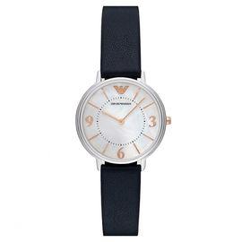 EMPORIO ARMANI 阿玛尼 手表 皮质表带经典时尚休闲石英女表 AR2509