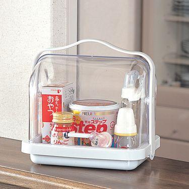 inomata 日本进口 奶瓶辅食收纳盒 面包咖啡调料罐 储物盒 食品防尘收纳箱