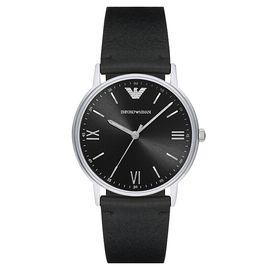 EMPORIO ARMANI 阿玛尼 手表皮制表带时尚休闲简约石英男士腕表AR11013