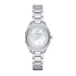 EMPORIO ARMANI 阿玛尼 手表 时尚镶钻休闲石英表钢带女表AR11030