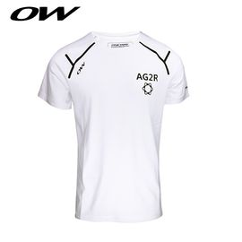 ONE WAY AG2R车队印花简约纯棉短袖T恤 9517230108