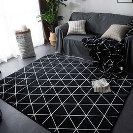 卡佩利丝 时尚菱形-北欧简约云貂绒地垫(多规格可选厚度1.5cm)YYJ