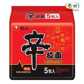 农心 辛拉面香菇牛肉(五连包 120g*5) 袋装 速食泡面
