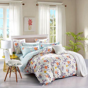 多喜爱 床品套件全棉印花四件套 西西里花园