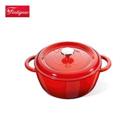 双立人 旗下 Fontignac 24厘米圆形铸铁炖锅  珐琅铸铁 美化餐桌
