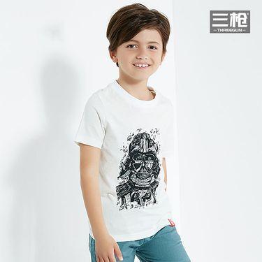 三枪 T恤男童2018春夏纯棉轻柔星战系列圆领微弹全棉男童短袖