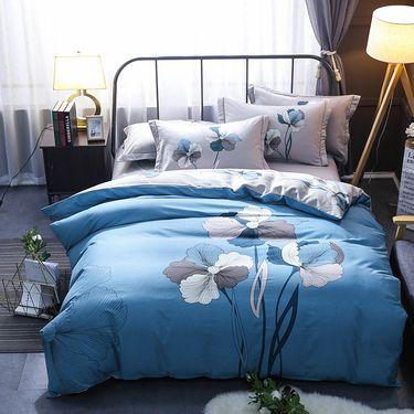 艾桐 高密四件套 纯棉活性印花中国风床品套件 全棉4件套