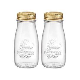 BORMIOLI ROCCO 【意大利进口】四季密封罐果汁牛奶瓶金盖400ml*2只